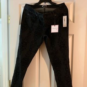 Jeans- Black w/suedes scroll accent